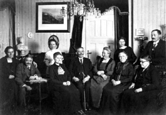 Familien Bischoff Oertel und Heinecke 1915 in Weimar