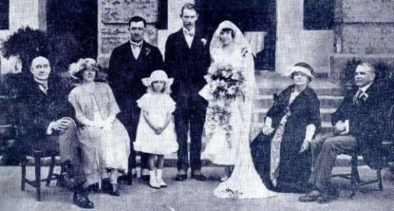 Hochzeit Oertel Watson aus Times of India Illustrated Weekly 1923