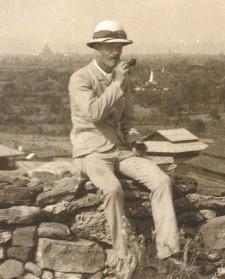F. O. Oertel Selbstportrait 1892 in Burma