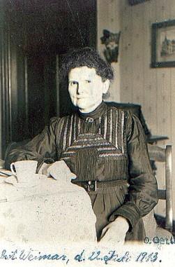 Marie Wilhelmine Oertel geb Bischoff
